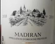 Stoc vin ''Aoc Madiran Rouge 2010 Les Hauts de  L'ermitage''