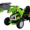 Excavator electric pentru copii BULLDOZER V12 #Verde