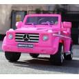 Masinuta electrica pentru copii Mercedes G55 AMG echipata CU ROTI MOI #Pink