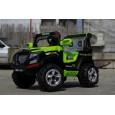 Masinuta electrica de POLITIE pentru copii, JEEP Police 2x35W #Verde