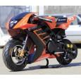 Motocicleta electrica pentru Copii, NITRO Eco TRIBO 1060W 36V #Orange