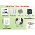 kit DSC585/PC1555R/KPS111/4xLC100PI+suport/100m cablu6/Acc 12V/4Ah